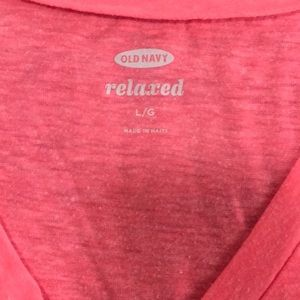 Pink Old Navy relaxed L T shirt